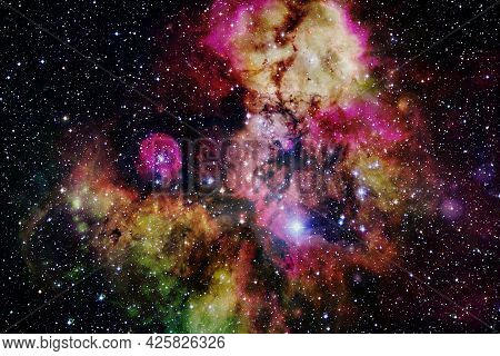 Deep Space. Elements Of This Image Furnished By Nasa