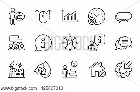 Technology Icons Set. Included Icon As Seo Gear, Security Lock, Electricity Factory Signs. Loan Perc