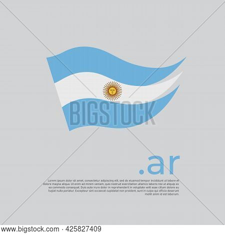 Argentina Flag. Stripes Colors Of The Argentinian Flag On A White Background. Vector Design National