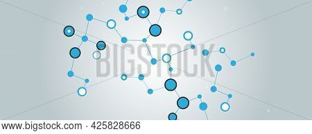 Trendy Line Art Cover Design With Banner With Connect Dots On White Background. White Background. Tr