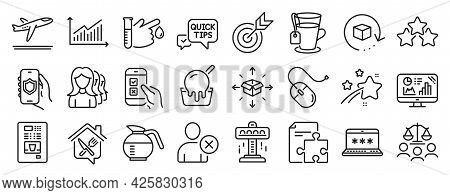 Set Of Business Icons, Such As Coffee Vending, Computer Mouse, Target Icons. Court Jury, Falling Sta