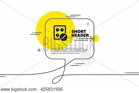 Medical Tablet Icon. Continuous Line Chat Bubble Banner. Medicine Drugs Sign. Pharmacy Medication Sy