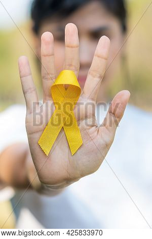 Suicide Prevention, Sarcoma, Bone, Bladder, Childhood Cancer Awareness Month, Yellow Ribbon For Supp