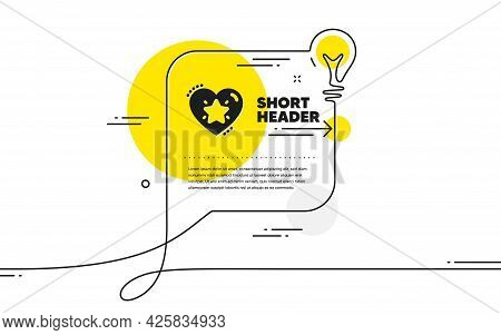 Ranking Star Icon. Continuous Line Idea Chat Bubble Banner. Love Rating Sign. Best Rank Symbol. Rank