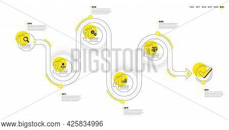 Business Infographic Timeline With 5 Steps. Workflow Process Diagram With Research, Working Idea, Da