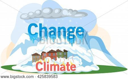 Global Warming And Environmental Problems. Temperature Of Earth Is Rising Due To Greenhouse Effect A