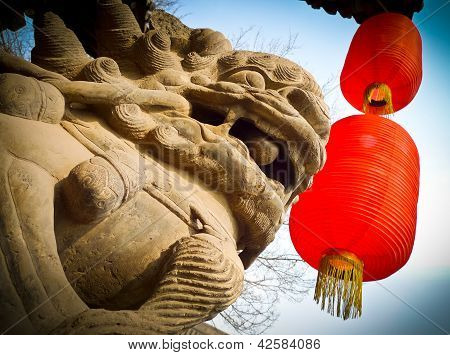 Lion And Lanterns
