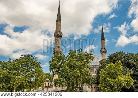 Eyup Sultan,istanbul,turkey-july 4,2021.general View From Eyüp Sultan District, The Religious And To