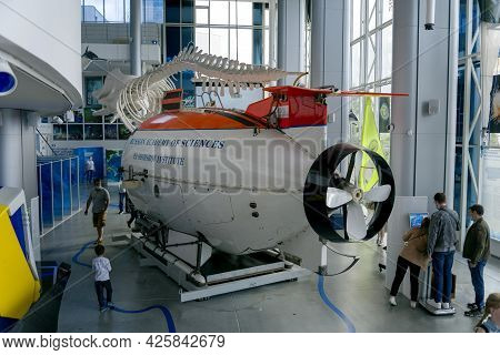 Kaliningrad, Russia-june 5, 2021: Mir-1 Deep-sea Manned Spacecraft For Oceanographic Research And Re
