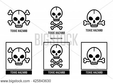 A Set Of Manipulation Symbols For Packaging Cargo Products And Goods. Marking - Toxic Hazard. Vector