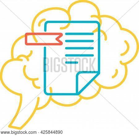 Function Data Memory Of Human Brain Icon Vector