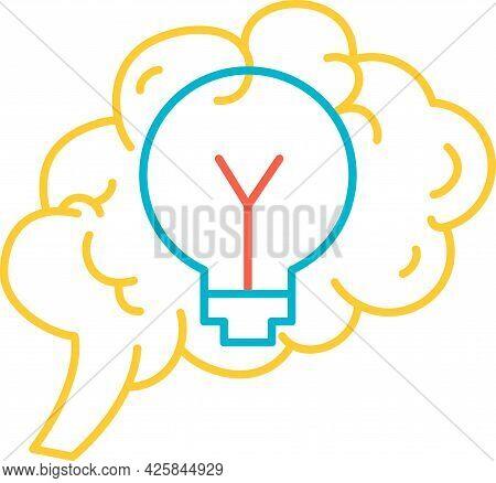 Function Generation Idea Of Brain Icon Vector