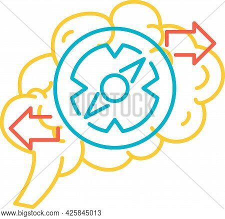 Brain Function Of Solution Problem Icon Vector