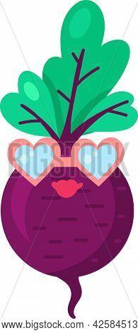 Turnip Vegetable Food Emoji Happy Emotion Vector