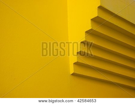 Yellow Wall Detail