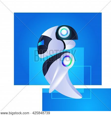 Cute Robot Cyborg Modern Robotic Character Artificial Intelligence Technology