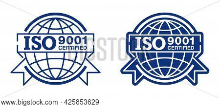 Iso 9001 Conformity To Standards Badge For Products Standardization - Flat Pictogram With Internatio