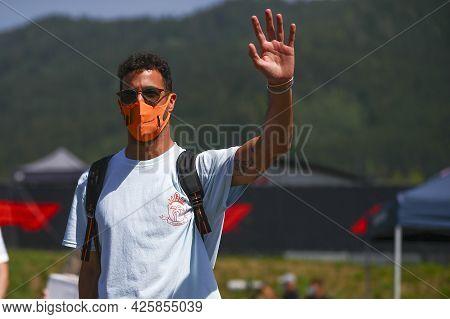 Daniel Ricciardo Of Mclaren  Walks In The Paddock During Previews Ahead Of The  Styrian Gran Prix 20