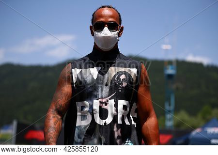 Lewis Hamilton Of Mercedes Amg F1 Team   Walks In The Paddock During Previews Ahead Of The   Styrian