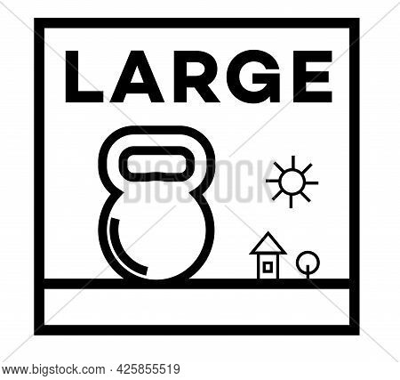 Large Isolated On White Sign , Badge, Stamp