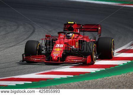 Carlos Sainz Jr. Of Scuderia Ferrari   On Track  During Free Practice Of   Styrian Formula 1 Gran Pr