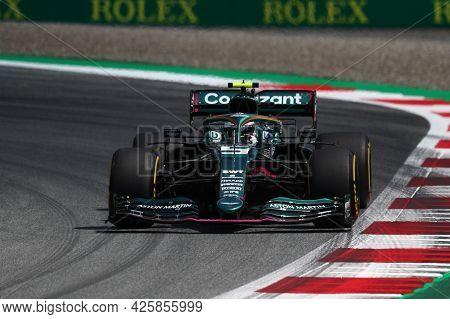 Sebastian Vettel Of Aston Martin   On Track  During Free Practice Of   Styrian Formula 1 Gran Prix 2