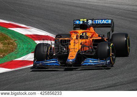 Lando Norris Of Mclaren   On Track  During Free Practice Of   Styrian Formula 1 Gran Prix 2021