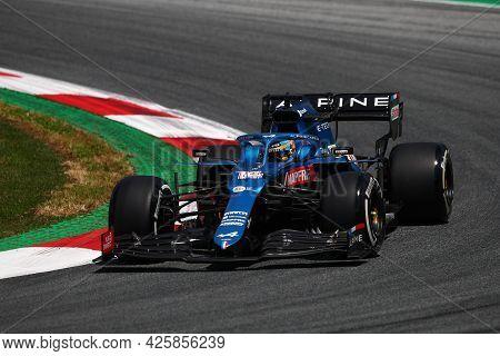 Fernando Alonso Of Alpine F1 Team    On Track  During Free Practice Of   Styrian Formula 1 Gran Prix