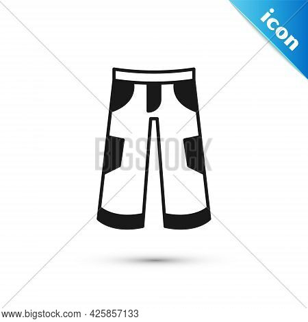 Grey Pants Icon Isolated On White Background. Trousers Sign. Vector