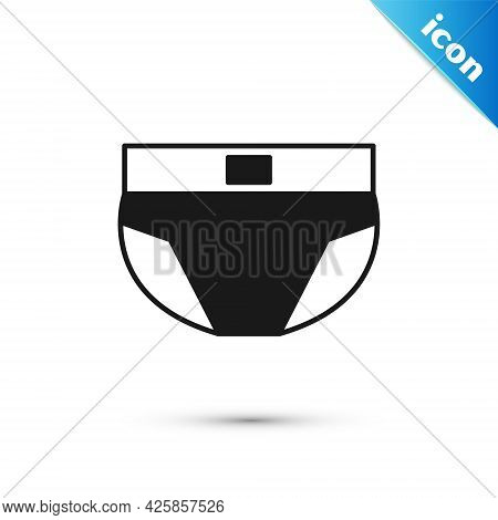 Grey Men Underpants Icon Isolated On White Background. Man Underwear. Vector