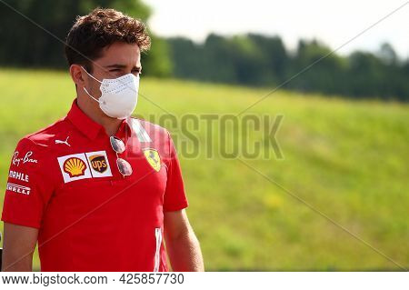 Charles Leclerc Of Scuderia Ferrari   Walks In The Paddock Before Free Practice Of   Styrian Gran Pr