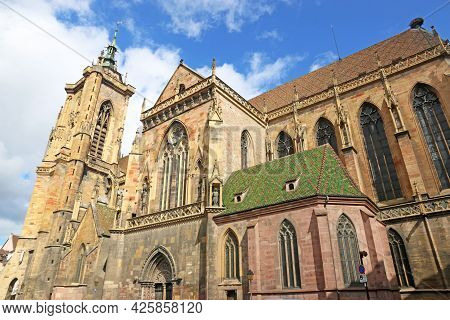 Exterior Of St Martins Church In Colmar, France
