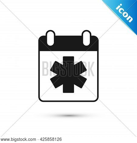 Grey Doctor Appointment Icon Isolated On White Background. Calendar, Planning Board, Agenda, Consult