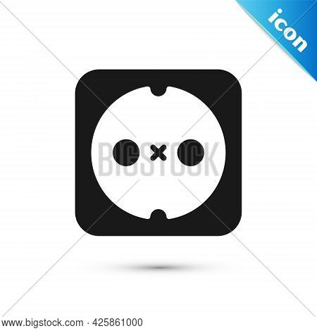 Grey Electrical Outlet Icon Isolated On White Background. Power Socket. Rosette Symbol. Vector