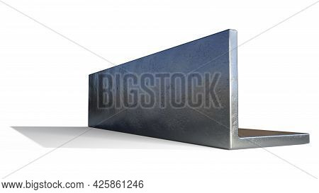 L-beam Rolled Metal. Isolated Cgi Industrial 3d Rendering