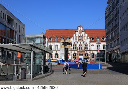 Muelheim A.d. Ruhr, Germany - September 21, 2020: Old Post Office Building Repurposed As Museum In M