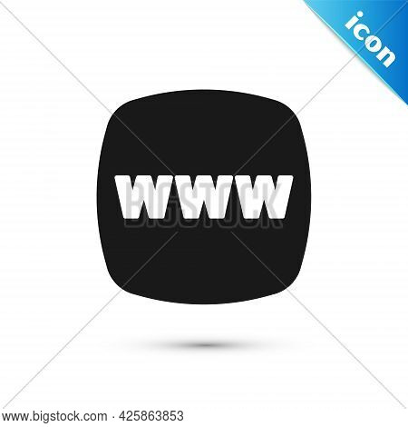Grey Website Template Icon Isolated On White Background. Internet Communication Protocol. Vector