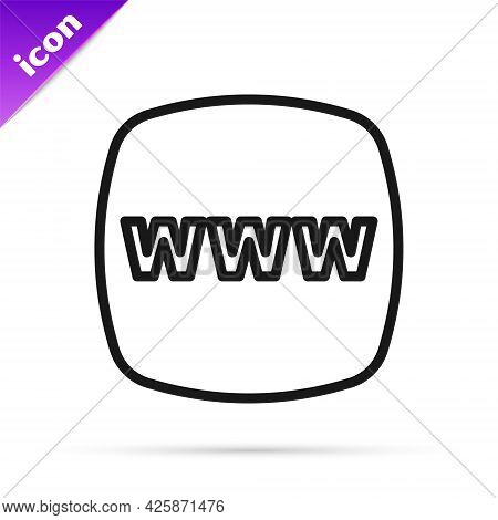 Black Line Website Template Icon Isolated On White Background. Internet Communication Protocol. Vect