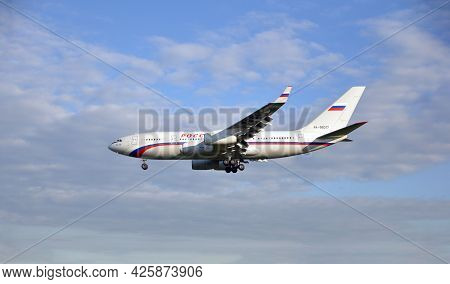 July 4, 2021 - Moscow, Russia: The Il-96 Aircraft Of The Ministry Of Defense Of The Russian Federati