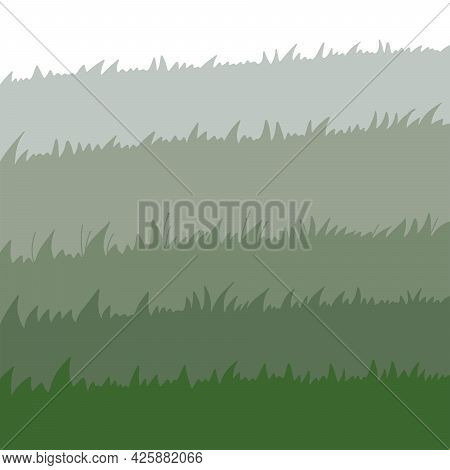 Set Of Spring Green Grass Horizontal Borders. Green Grass Collection On White Background. Flat Vecto