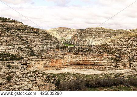 Mountainous Landscape Of Jorquera Village In Castilla La Mancha, Spain