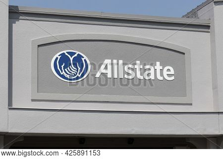 Kokomo - Circa July 2021: Allstate Insurance Office. The Allstate Corporation Is The Second Largest