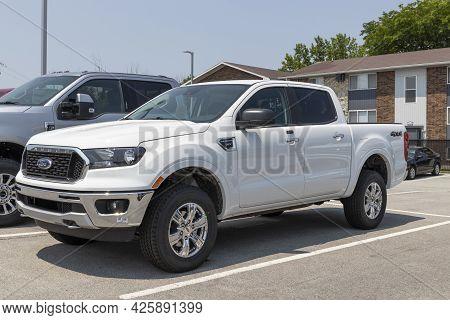 Kokomo - Circa July 2021: Ford Ranger Pickup Truck Display At A Dealership. The Ranger Name Has Been