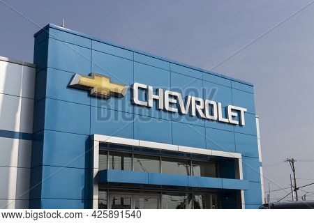 Cincinnati - Circa July 2021: Chevrolet Car And Suv Dealership. Chevy Is A Division Of General Motor