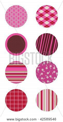 Pink Patterned Circles