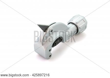 Metal Pipe Cutter For Copper And Aluminum Isolated On White Background. Selective Focus.