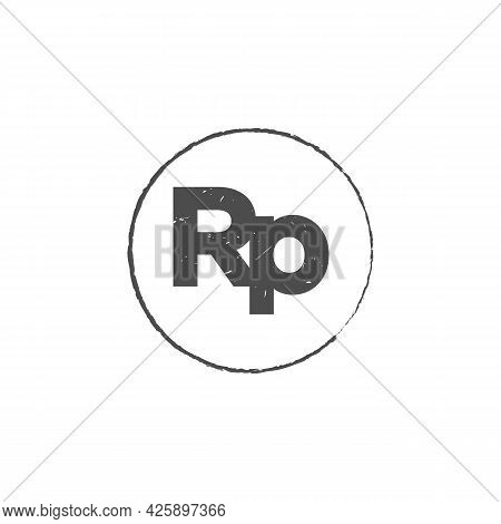 Indonesia Rupiah Idr Grunge Stamp Seal Vector Design. Currency Mainstream Symbol With Grunge Stamp S