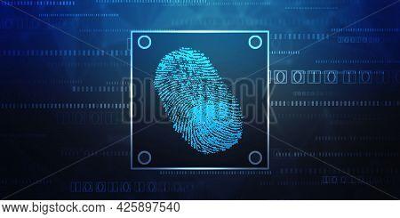 Fingerprint Integrated In A Printed Circuit, Releasing Binary Codes. Fingerprint Scanning Identifica