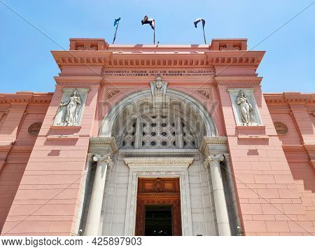 May 17, 2021. Cairo. Egypt: The Museum Of Egyptian Antiquities Egyptian Museum Which Houses The Worl