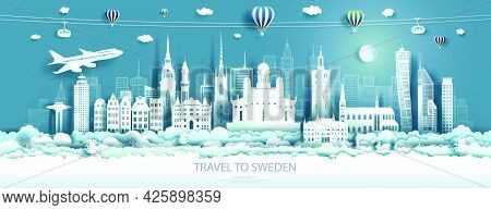 Travel Landmarks Europe To Sweden Tour Famous Architecture To Stockholm With Airplane, Gondola And B